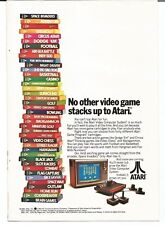 Vintage Print Ad PH 1980 Atari video games stack up  -1114-