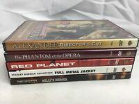 Lot Of 5 DVD By Warner Bros. Alexander Red Planet Full Metal Jacket & More