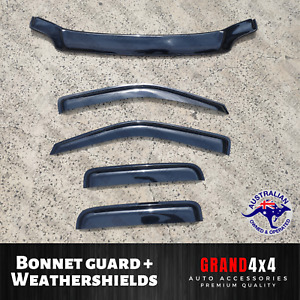 Bonnet Protector + Weathershields for Holden Rodeo RA 2002 - 2006 Dual Cab
