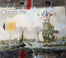 """Télécarte 5 unités - GN 238 """"Brest Marine nationale"""" neuve sous blister// 02/96"""