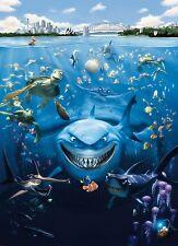 FINDING NEMO Photo Wallpaper Wall Mural DISNEY for KIDS SEA SHARK  184x254cm