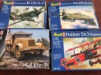 Revell Messerschmitt 03263, 04166, 04116, 04160, Sd.Kfz. 7 neu ungebaut OVP