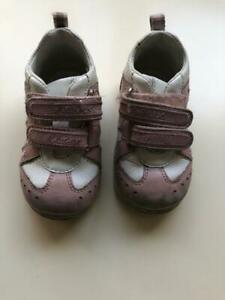 Geox Baby Girls Pink White Sneakers Size 4.5 (Eur 20)