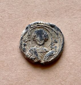 Byzantine lead seal of Symeon officer with saint George (11th cent.). Nice!