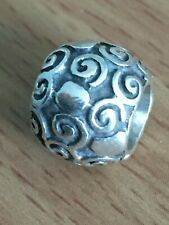 Genuine Pandora Sterling Silver Dots & Swirls Charm 925 ALE