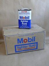 VINTAGE ORIGINAL MOBIL OIL PEGASUS LIGHTER FLUID TIN UNUSED FROM BOX UNUSED SHOP