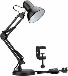E27 Bulb Swing Arm Architect Lamp Office Study Desk Lamp Clamp on Table Lamp UK