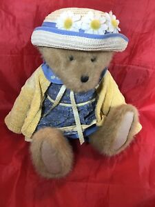 "Boyds Bears Denise N Daisydew Plush Jointed Dressed 17"" Plush Stuffed Animal"