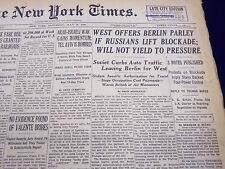 1948 JULY 10 NEW YORK TIMES NEWSPAPER - WEST OFFERS BERLIN PARLEY  - NT 61