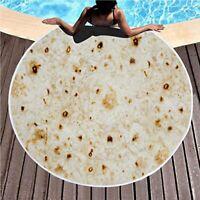 Burrito Blanket Throw Tortilla Texture Super Soft Fleece Quilt Bed Sofa Bedding