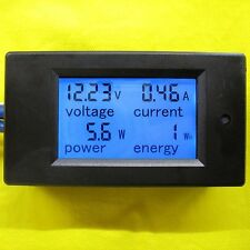 LCD Voltage Current 20A DC 100V Voltmeter Volt Meter 12V 24V 48V Battery Solar