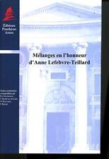 Mélanges en l'honneur d'Anne Lefebvre-Teillard Droit Canonique Histoire du droit