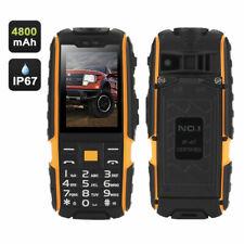 "NO.1 A9 Cellulare GSM 4800mah 2.4"" Radio FM Dual SIM IP67 Impermeabile Nero"