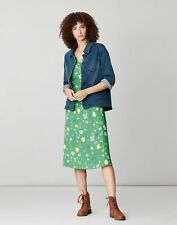 Joules Womens Darcey Button Front Dress - Green Floral