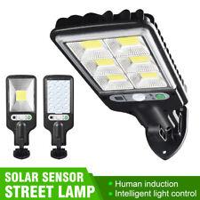 LED Solar Street Wall Light PIR Motion Sensor Dimmable Lamp Outdoor Garden NEW