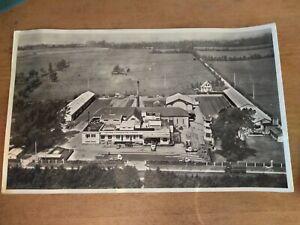 Grande photo aérienne Lapie laiterie coopérative Isigny Calvados 1956