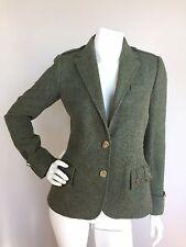 RALPH LAUREN BLUE LABEL Sz 4 Green Wool Alpaca Blend Military Style Jacket