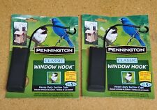 2 pack Pennington Classic Window Hook Bird Feeder Wind Chime Heavy Duty Suction