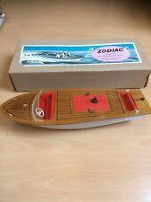 Rare Sutcliffe Zodiac Bateau Canot En Boîte bois et plastique Speedboat Electric
