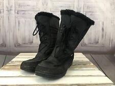 Alpine Womens Lady Mid Calf  Black Fur Seasonal Winter Lace up Tie Boots Sz. 8