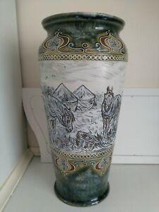 Antique Royal Doulton Hannah Barlow Vase
