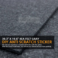 39.3?X 19.6?Felt Gray DIY Anti Scratch Sticker 4EA for HYUNDAI KIA Vehicles