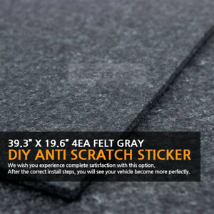 39.3?X 19.6?Felt Gray DIY Anti Scratch Cover Sticker 4EA for RENAULT Vehicles