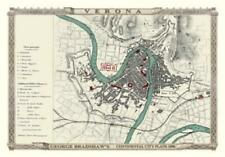 George Bradshaw'S CONTINENTAL Piano della città di Verona 1896 - 1000 Pezzo Puzzle