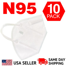 10 MASKS: N95 MEDICAL Face Mask Cover Protection Disposable Respirator N 95