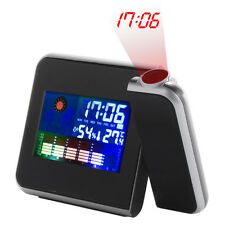 Digital LCD Screen Weather Station Forecast Calendar Projector Alarm Clock ZB