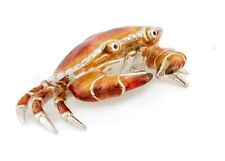 More details for saturno sterling silver and enamel crab