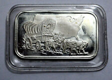 RARE 1 Oz Conestoga Wagon Old Silver Towne Sealed Bar Ingot 1oz .999 Fine Silver