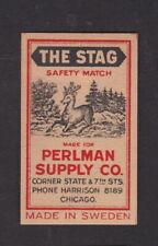 Ancienne étiquette allumettes Suède BN100687 The Stag Cerf