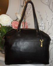 Fossil Julia Black Leather Shoulder Shopper Bag Key Fits iPad Work Travel Uni