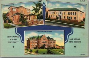 1940s Las Vegas, NM Postcard NEW MEXICO NORMAL UNIVERSITY Multi-View Linen
