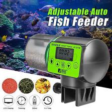 ❤ Automatic 200ml Fish Food Feeder Digital LCD Feeding Timer Pet Aquarium Holida