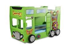 Lit Type Mezzanine de Superposé Lits Superposés D'Enfant Happy Bus en Vert