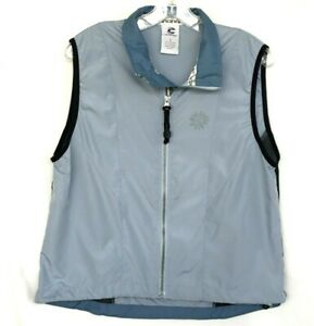 CANNONDALE Cycling Vest Womens M Blue Gray Mesh Sides /Sleeveless