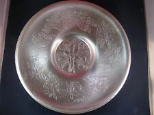 Mid Century Vintage Retro 1960's Wilsonware Aluminum Floral Etched Platter Tray