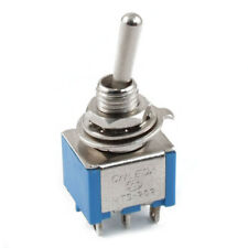 AC 3A/250V 6A/125V 6 Pin DPDT On/On 2 Position Mini Toggle Switch Blue Q8G4 X4A8