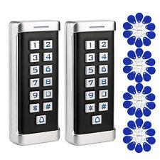 2xAccess Control Keypad 125Khz Zinc Alloy Led+40xRfid Keyfobs for Office Home Us