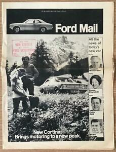 FORD MAIL Cortina Special Newspaper Publicity Brochure 1971