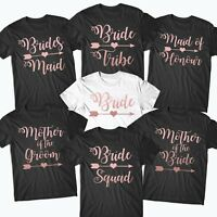 Hen Party T Shirts Hen Do Bride To Be Tribe Tops Personalised Rose Gold -#BR4R