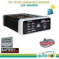 DC-DC 12v 20amp Dual Battery Charger Solar Input Deep Cycle Caravan Camper Boat