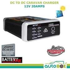 DC-DC 12v 20amp Dual Battery Charger Solar Input Deep Cycle Caravan Camper Boat