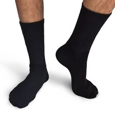 3 x Branded Bamboo Organic Mens Business Socks Odor Free 6-11 Black UK