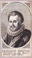 Portrait XVIIe François de France (1555-1584) Valois Duc d'Alençon Brabant