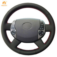 Durable Black Leather Steering Wheel Cover for Toyota Prius 2005-2008 #FT26