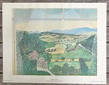 "Vintage Print Grandma Moses ""Hoosick Valley"" Art in America USA 12 x 14 Image"