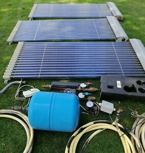 Hot Water Solar Panels almost complete installation